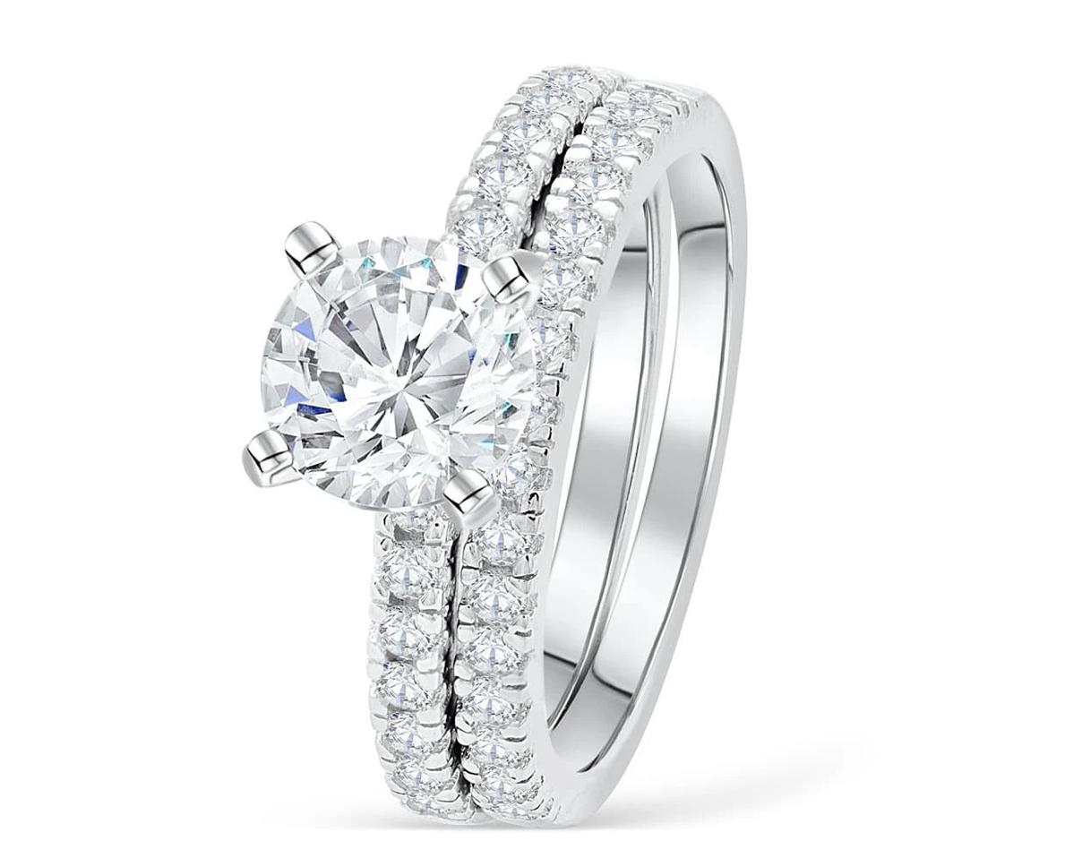 starlight silver wedding ring