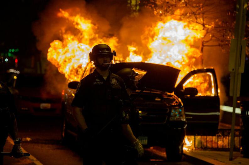 protestas george floyd black lives matter mayo 30 2020 washington dc