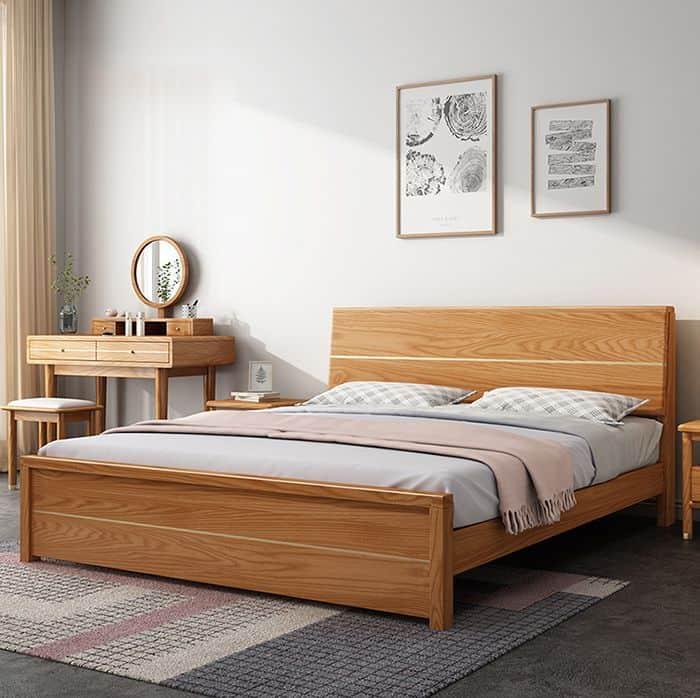 Giường Ngủ Gỗ Sồi Nga 1m8 x 2m  Giường Gỗ Sồi Giá Rẻ