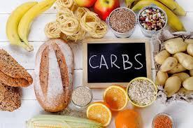 carbs with bread, grains, pasta, bananas