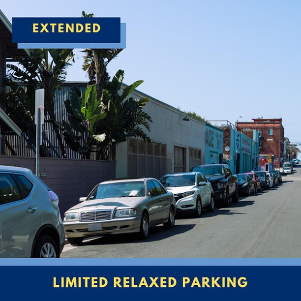 Extended Limited Relaxed Parking Image of parked cars