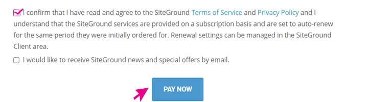Buy SiteGround Hosting success