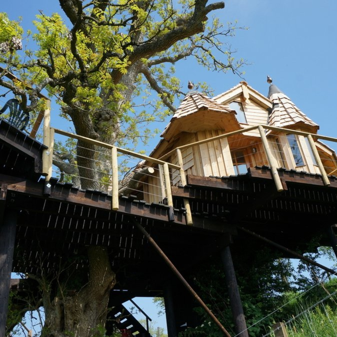 Where to go camping treehouse Campspace Scotland