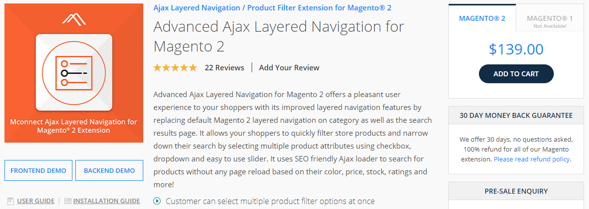 Advanced Ajax Layered Navigation for Magento 2 by Mconnectmedia