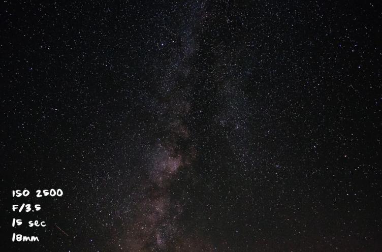Star photograph captured using a long shutter speed.