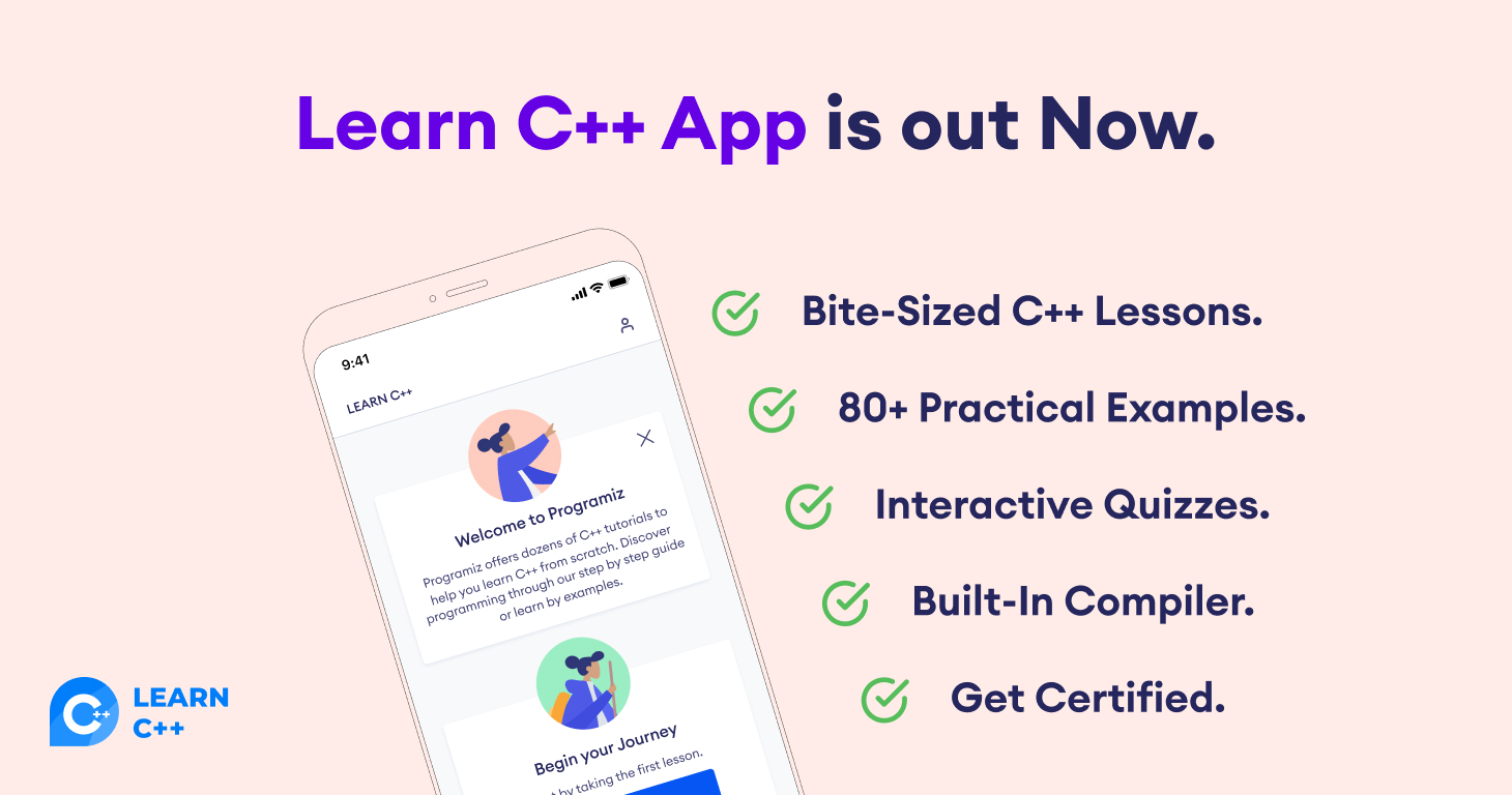 Learn C++ App Features