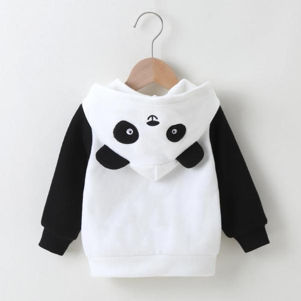 Unisex Panda Black & White Hooded Jacket
