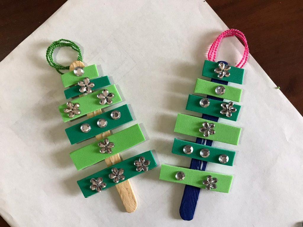 Manualidad navideña_mini arboles geometricos
