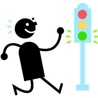 emotions,goes,happy,people,signals,stoplights,traffic controls,transportation,walking,signs,symbols