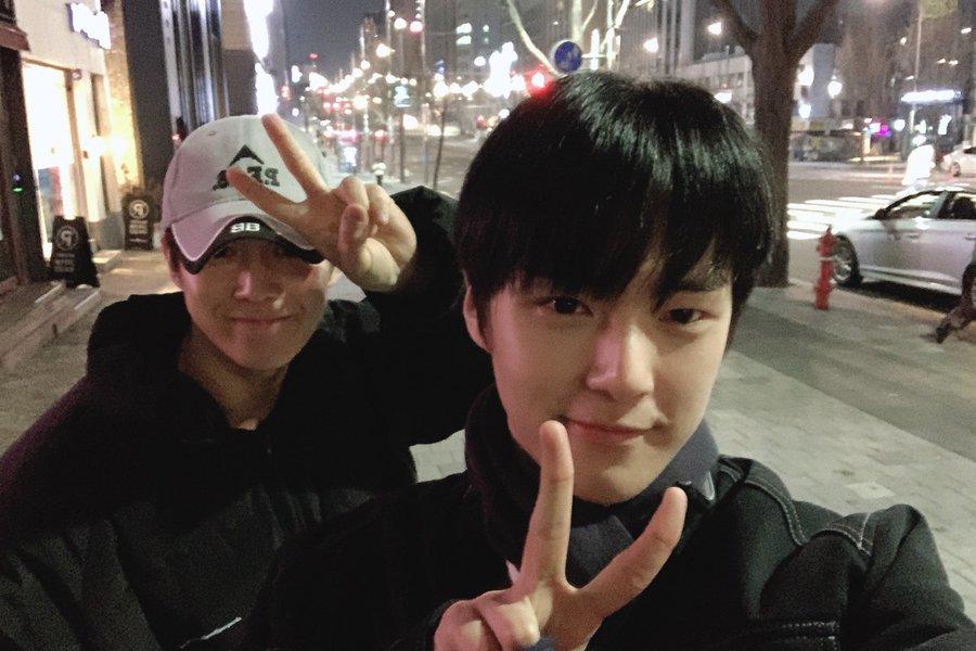 Dawon 'SF9' dan Minhyuk 'Monsta X' Lagi Hang Out Bareng Saat Libur Seollal
