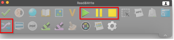 Read&Write Freemium toolbar