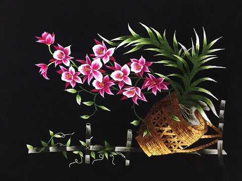 Tranh thêu hoa lan và ý nghĩa đặc biệt trong phong thủy 1