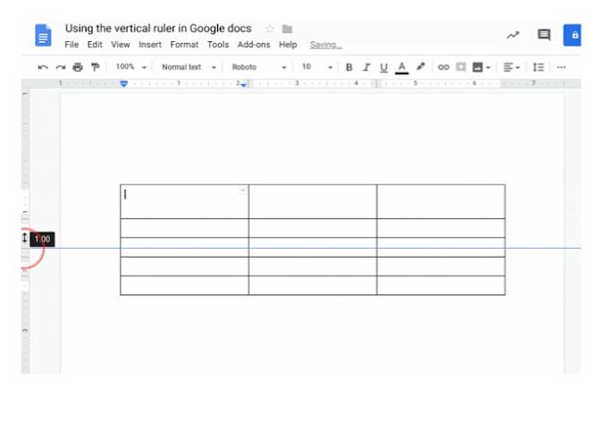 Newest Addition to Google Docs - Vertical Ruler