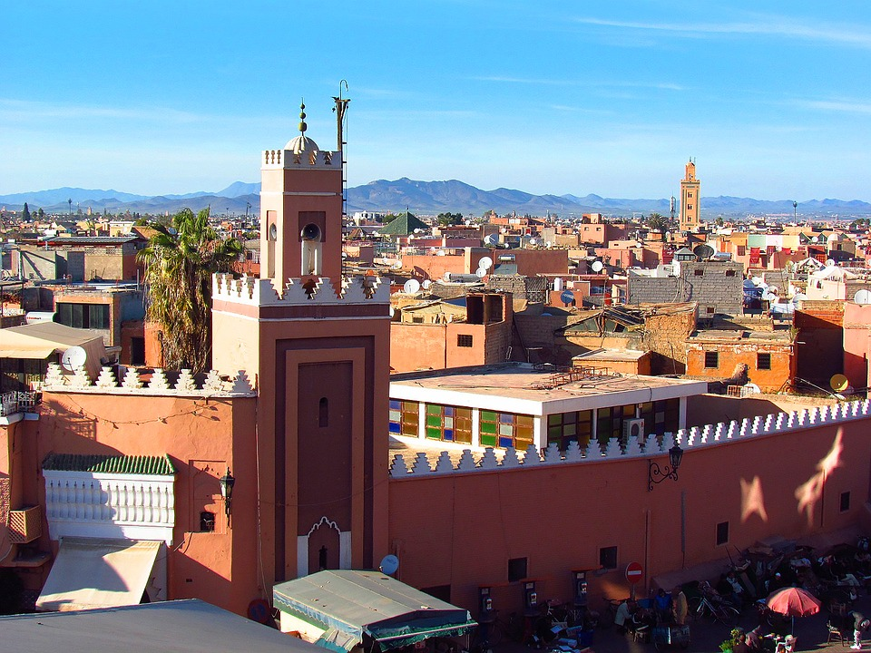 Marrakech, Morocco, Mosque, Minaret, Place, Monument