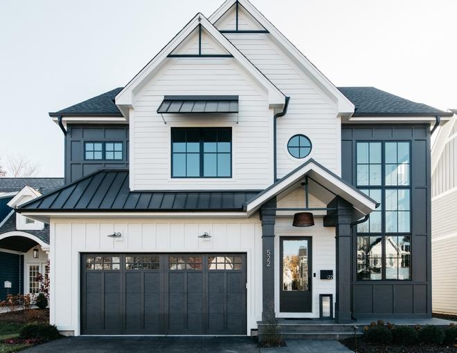 black and white house real estate shelhamer