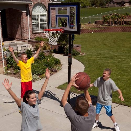 Basketball game at home