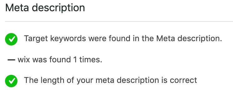 meta beschrijving met zoekwoorden