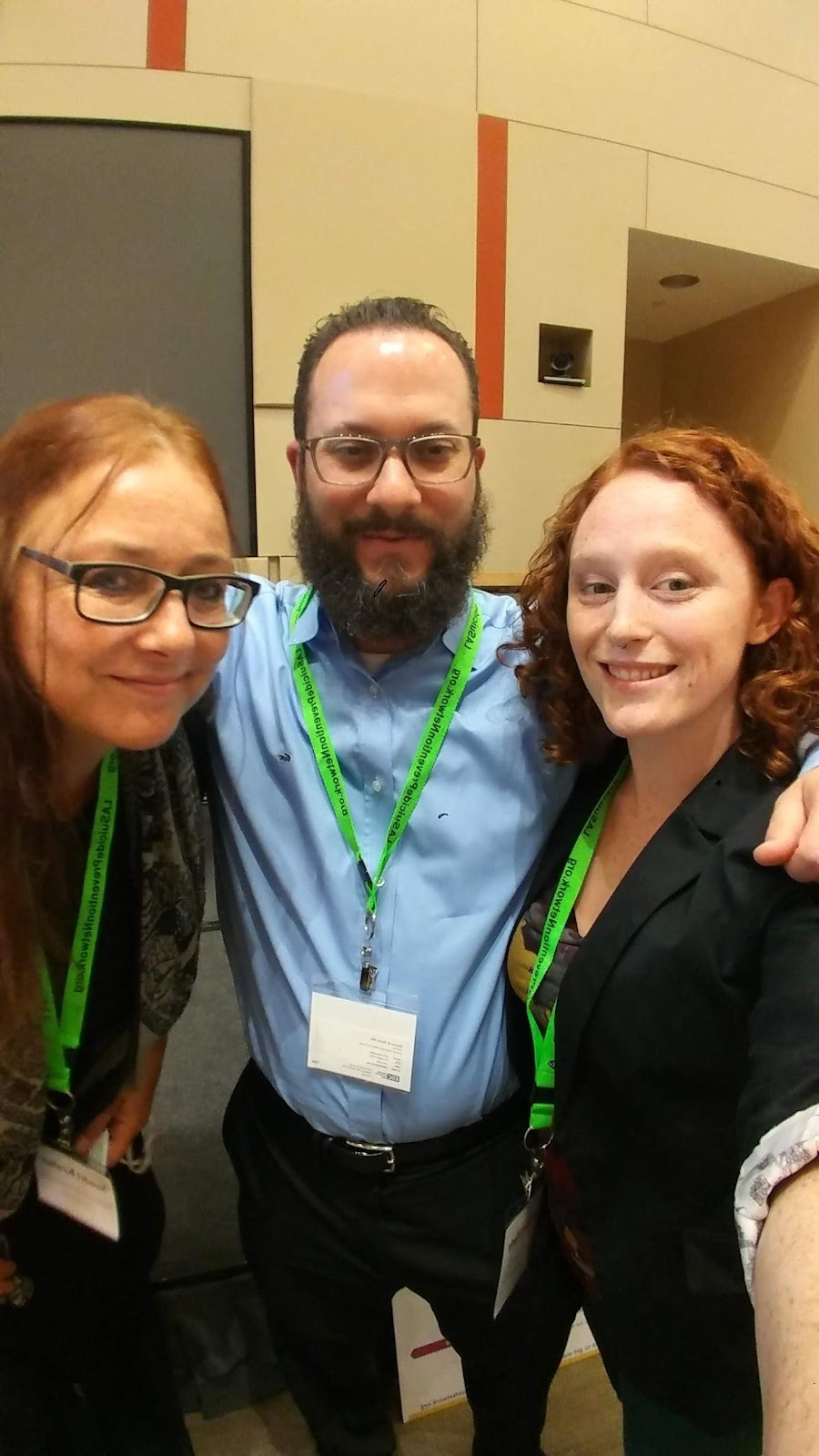 (left to right) Sandri Kramer and Shawn Silverstein, after presenting their breakout session on Suicide Risk Assessment and Safety Planning, along with 211's community relations assistant, Hope Algeo.