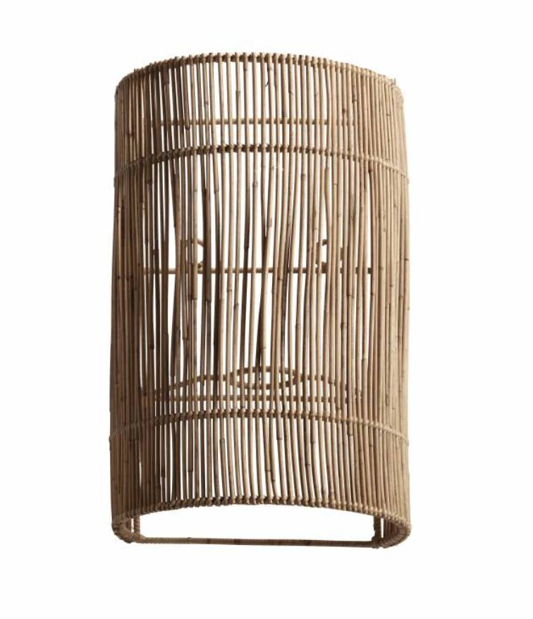 Using Wall Lamp With Natural Shades To Create The Right Ambiance