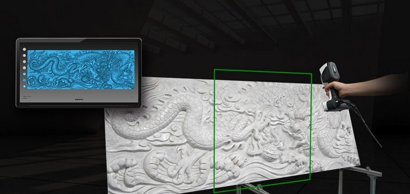 Image of Scanning a carving