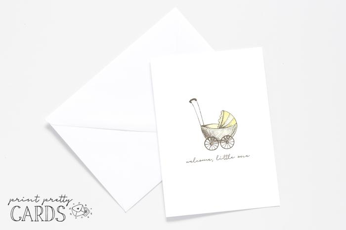 Yellow Baby Shower Card Printable