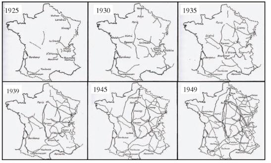 Évolution du système électrique dans la revue générale des chemins de fer (1938)