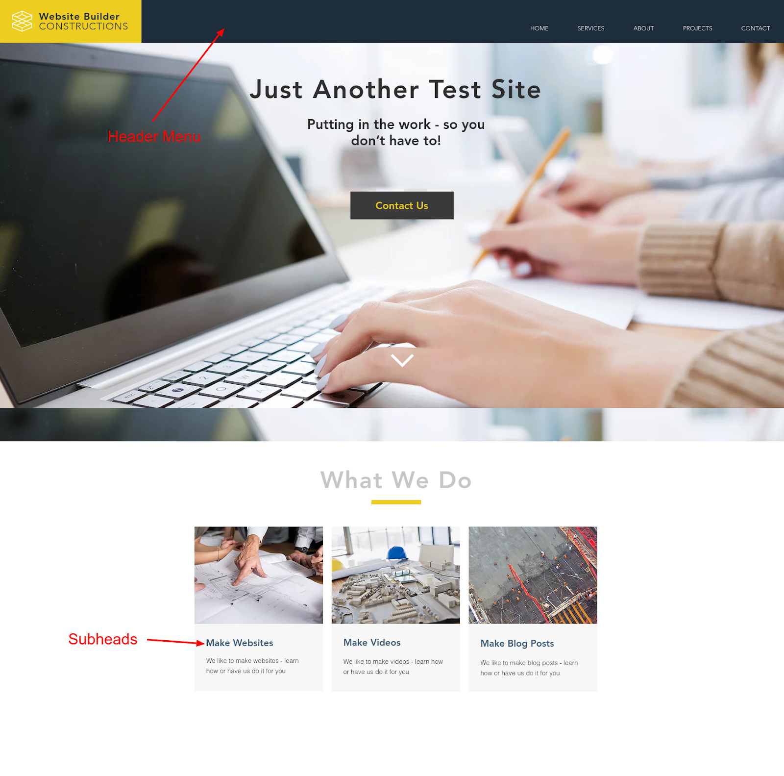 website color schemes secondary color example annotated