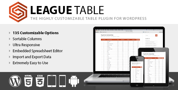 table plugins to create online data tables