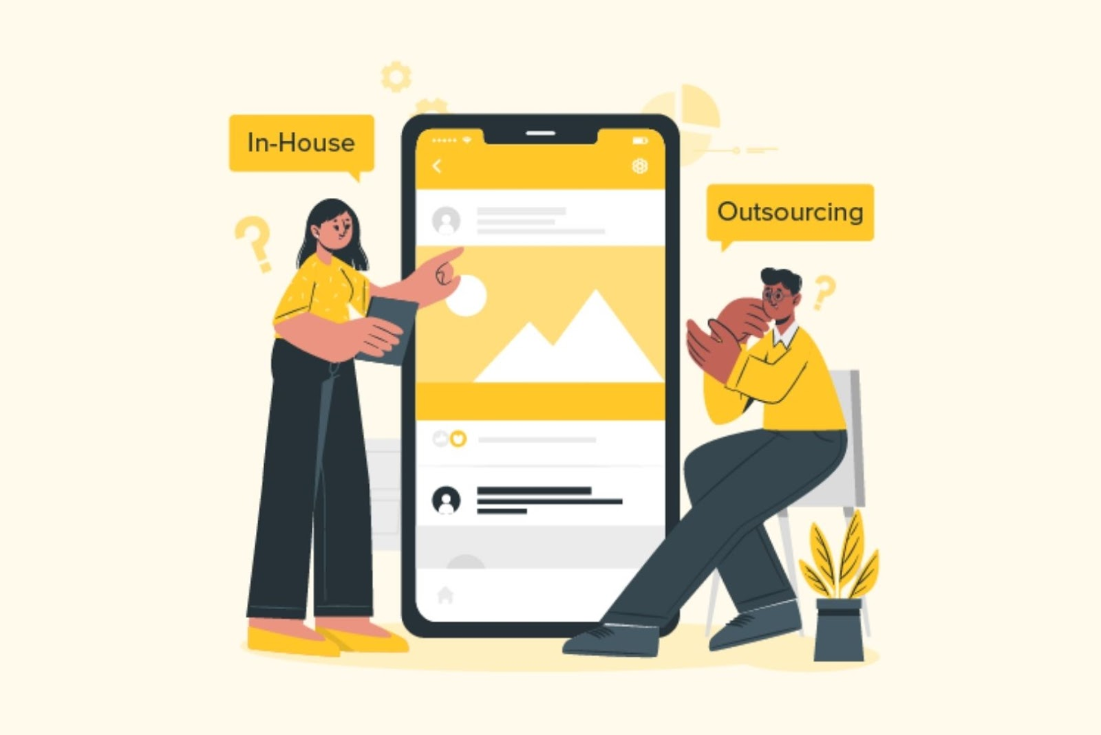 in-house and outsourcing app development