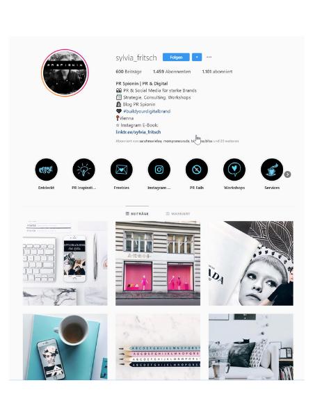 Die Instagram Story Highlights sind eine Möglichkeit, mehr über dein Unternehmen zu verraten