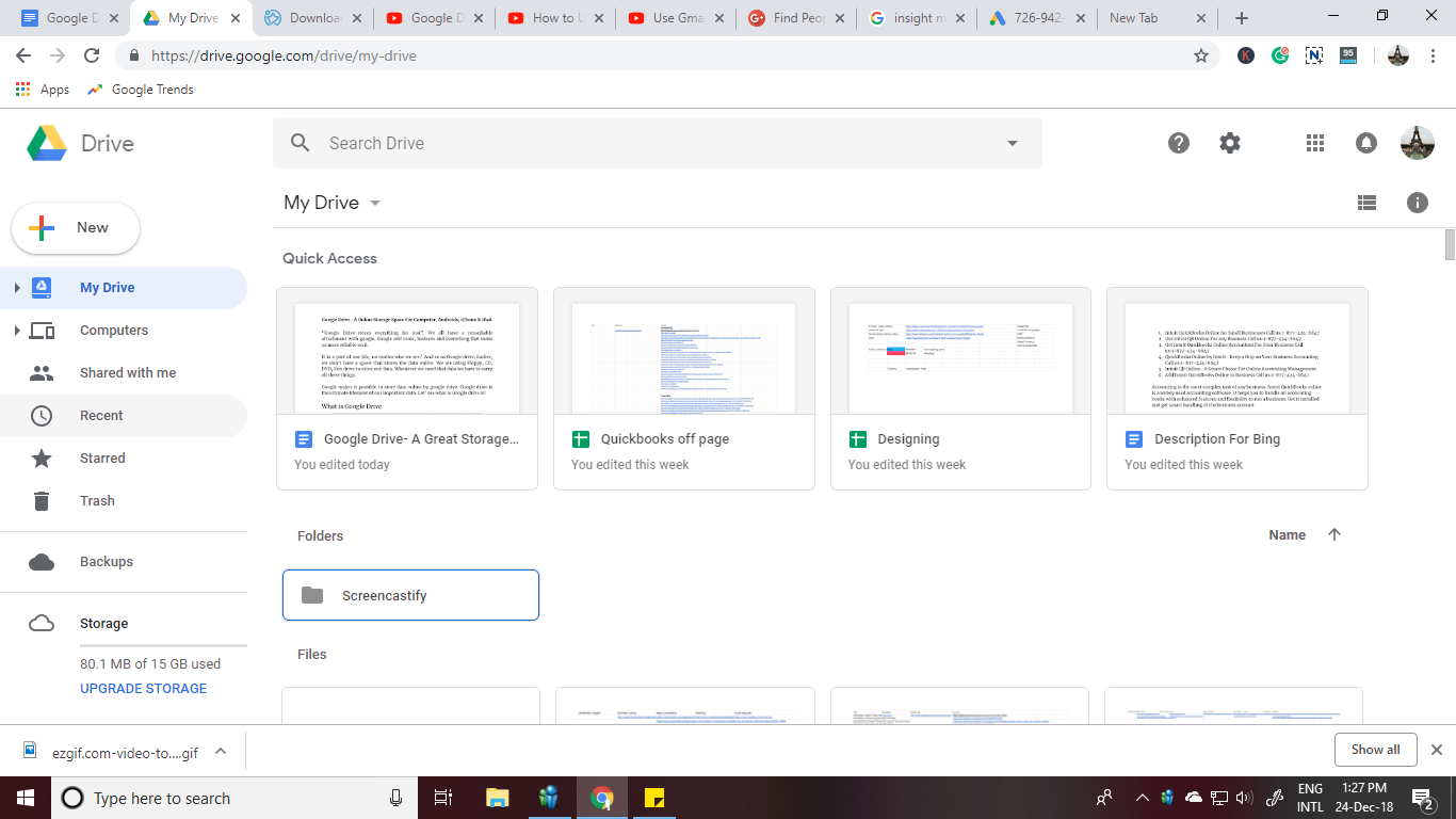Google drive insight