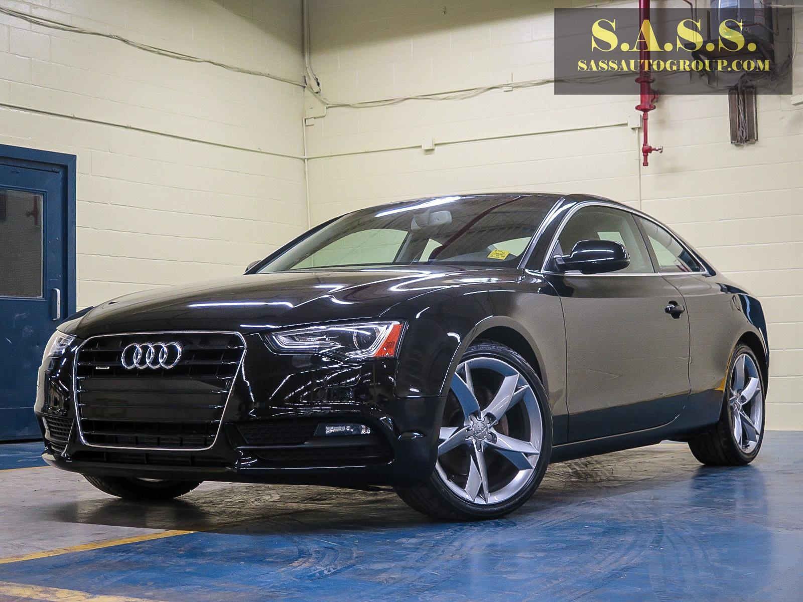 black audi a5 coupe