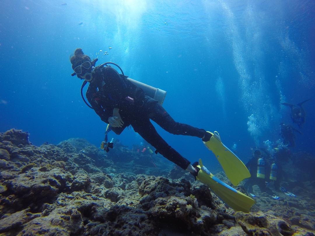 綠島大白沙潛水區水流較急不適合新手