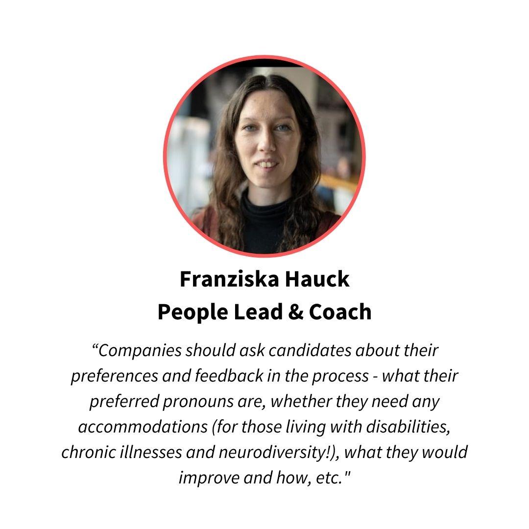 Franziska Hauck, diversity advocate