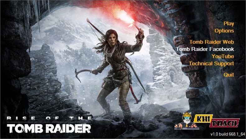 Giờ chiến game Rise Of The Tomb Raider được rồi đó!