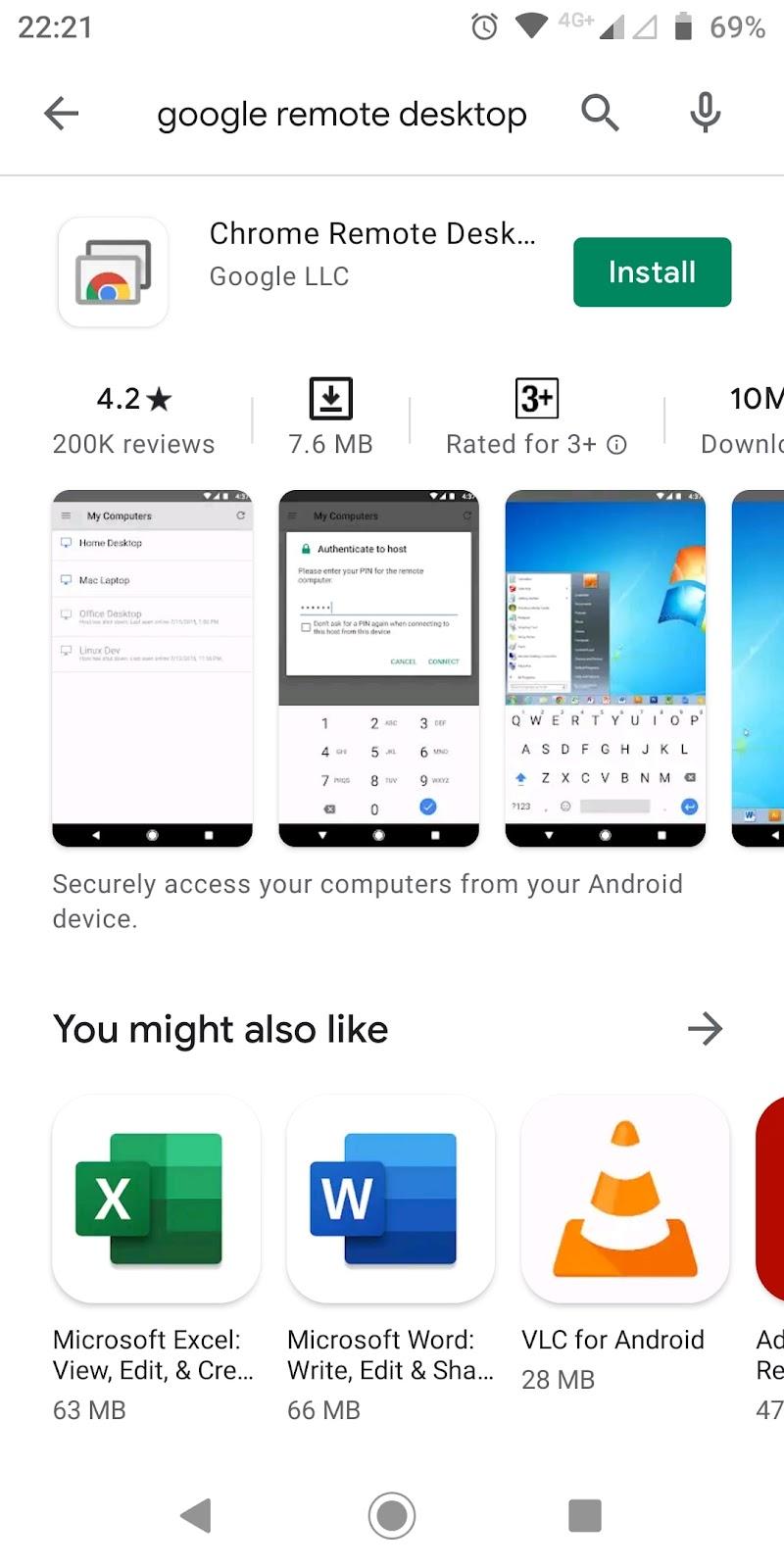 Google remote desktop