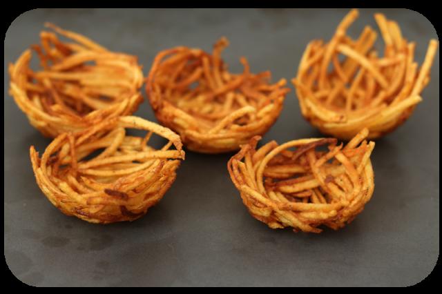Frittierte Kartoffelnester | Arthurs Tochter Kocht von Astrid Paul