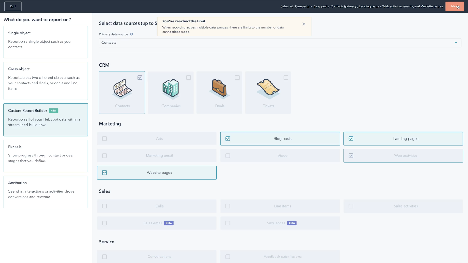 HubSpot Produktaktualisierungen Mai 2021: Kampagnen- und Sequenzdaten im Custom Report Builder