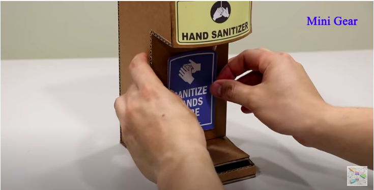 Decorate the Hand Sanitizer Dispenser