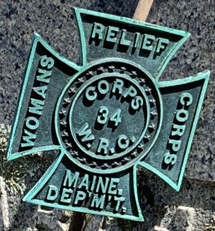 [Image of an iron cross marker for Maine Department, Woman's Relief Corps, Corps 34.]