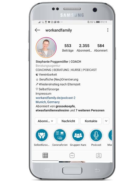 Ein überzeigendes Instagram Prodil muss direkt kommunizieren, worum es bei diesem Account geht