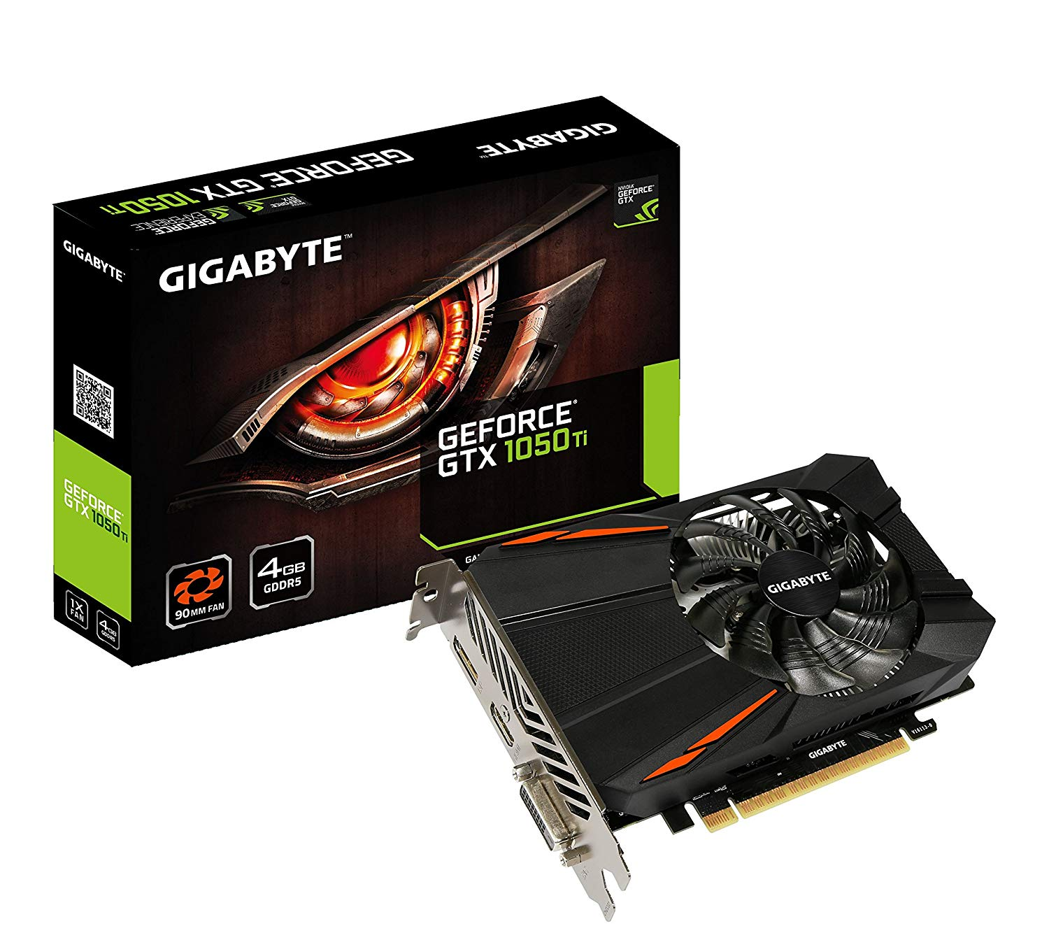 Gigabyte Geforce GTX 1050 Ti 4GB GDDR5 PCI-E Graphics Card