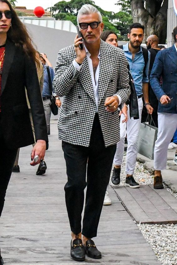 man wearing unisex clothes