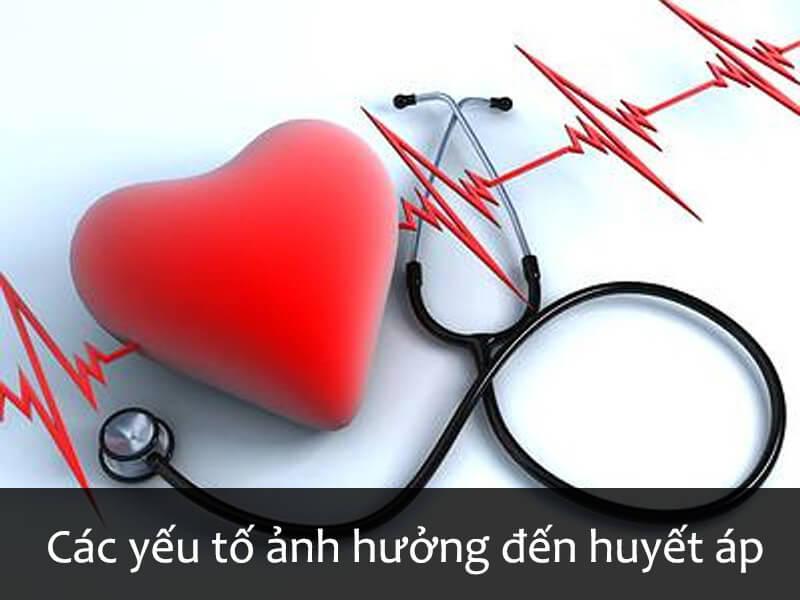 Các yếu tố ảnh hưởng tới huyết áp.