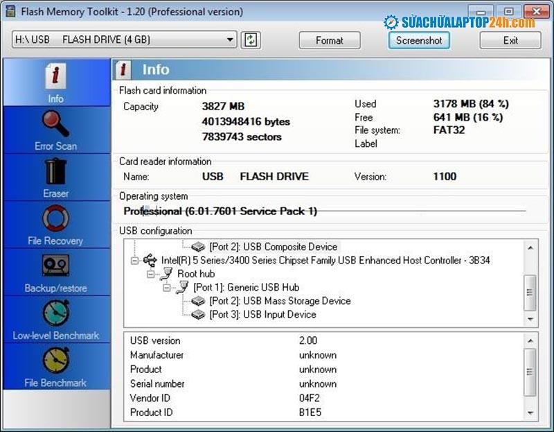 Phần mềm Flash Memory Toolkit
