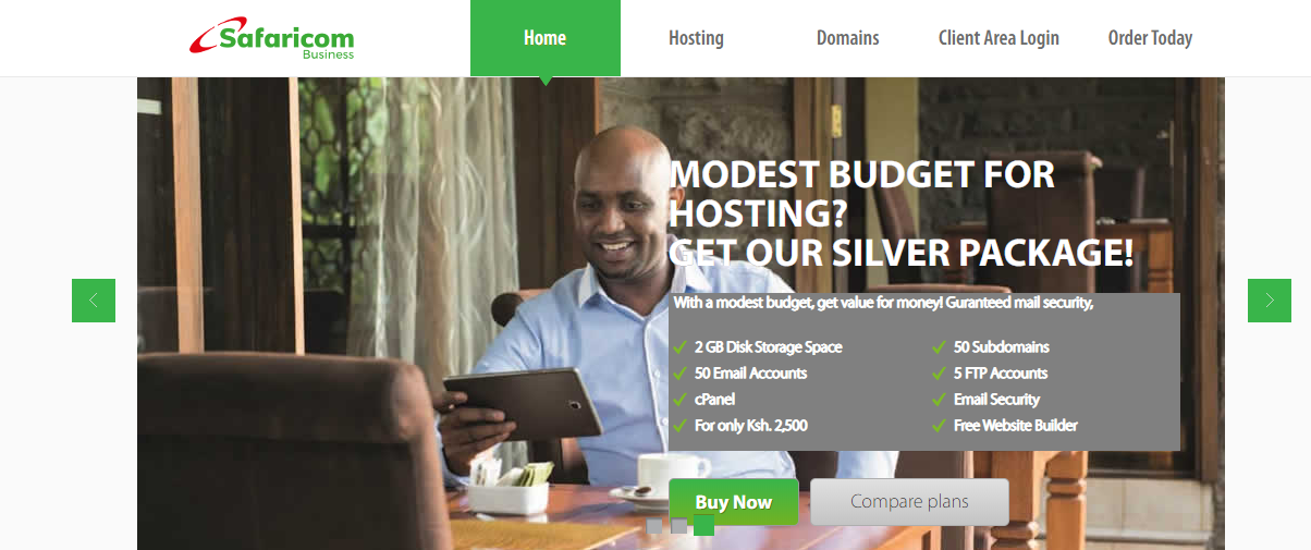 Safaricom Web Hosting