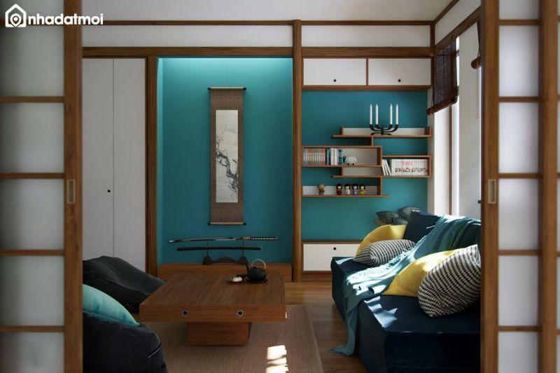 Thiết kế cửa trượt phòng khách kiểu Nhật