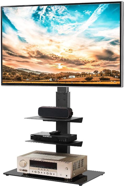 5Rcom Swivel Floor TV Stand with 3 Shelves TV Stand