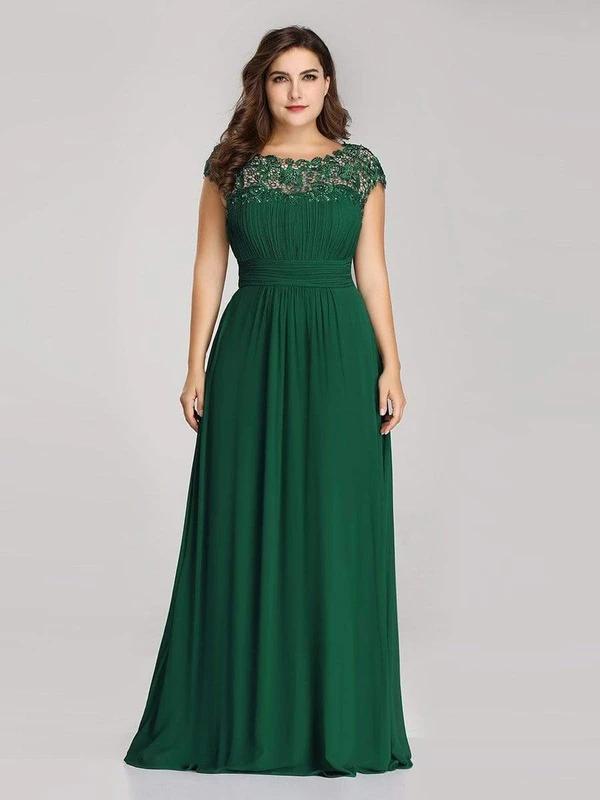 Plus-Size-Maxi-Long-Lace-Cap-Sleeve-Evening-Dress