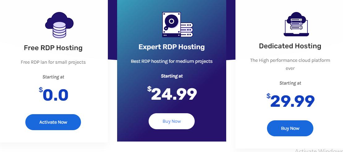 rdphostings.com plans and pricing